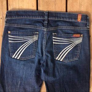 7 For All Mankind Dojo Raw Hem Jeans